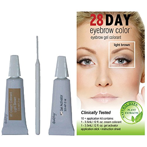 Godefroy 1 Count 28 Day Eyebrow Color Light Brown 10 application Kit