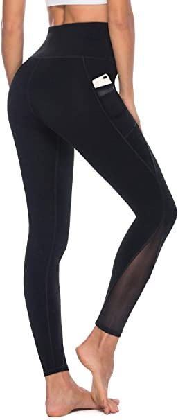 Amazon.com: AFITNE Leggings de yoga de malla de cintura alta ...