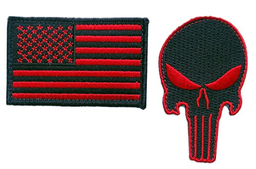 black Punisher Morale Tactical Patches