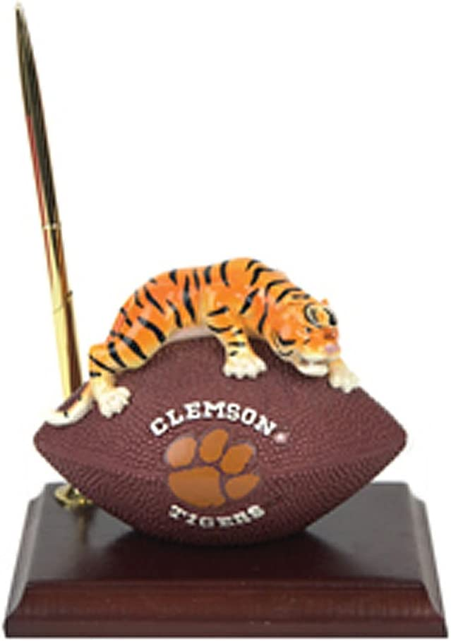 Clemson Tigers Mascot Football Clock//Pen