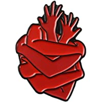 Corazón De Órganos Pin Esmalte Brave Cardíaca Botones Abrazo Ropa Bolsa De Regalo Pin Insignia Médica Joyería