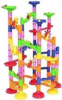 Peradix Marble Run Coaster 105 Stück Learning Railway Construction DIY Constructing Maze Spielzeug für die ganze Familie