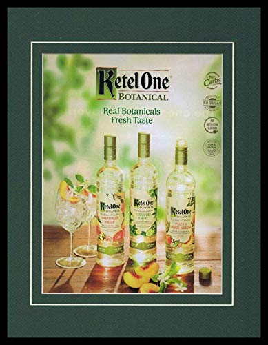 (2019 Ketel One Botanicals Vodka Framed 11x14 ORIGINAL Vintage Advertisement )