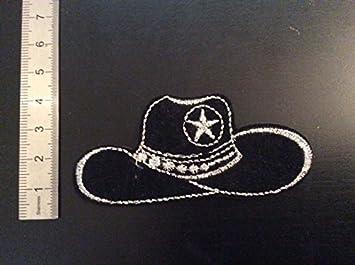 351ec2759d598 Parches para planchar aufnaher Toppa  Sombrero de cowboy  Amazon.es  Coche  y moto
