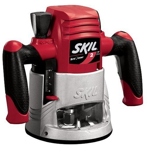 SKIL 1815 2 HP Fixed Base Router with Site Light