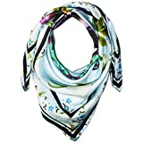Ted Baker London Women's Entangled Enchantment Evella Square Scarf, Baby Blue, One Size