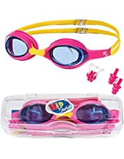 KidSwim Swimming Goggles For Children (Age 4-12), No Leak Waterproof Swim Goggles With Anti Fog Lens And Soft Silicone Strap