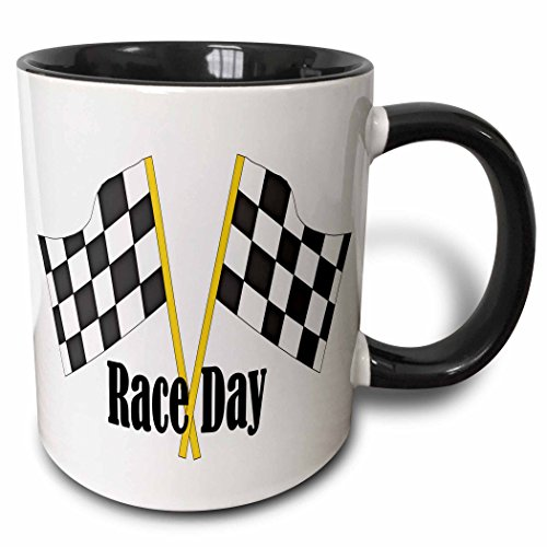 (3dRose 210741_4 Car Race Start Your Engine Sign Mug 11 oz Black)
