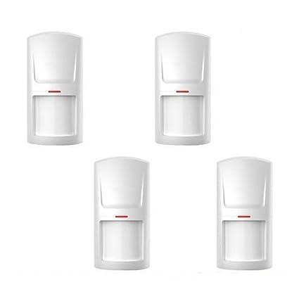 ABTO 4 piezas, sensor de movimiento inalámbrico electrónico para sistema de alarma falsa
