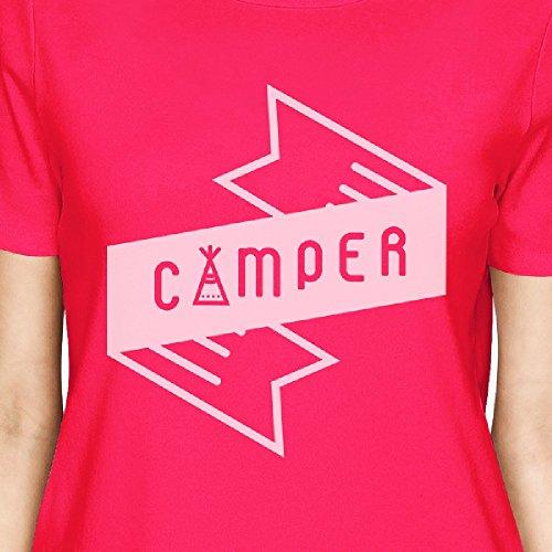 Femme Pink Unique Hot Manches Printing 365 Courtes T Taille shirt Camper wnPS0XxvqC