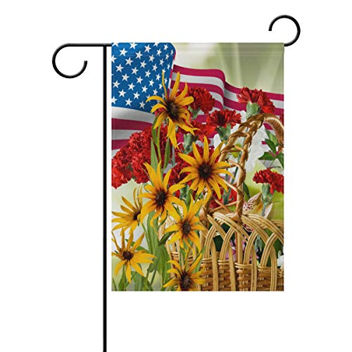 AGONA Sunflower Patriotic Celebrate The USA Garden Flag 12 x 18, Outdoor Vertical Double Sided Yard Flags Seasonal Holiday Decorative House Flag for Garden Decor Party Housewarming Gift Hostess Gift from AGONA