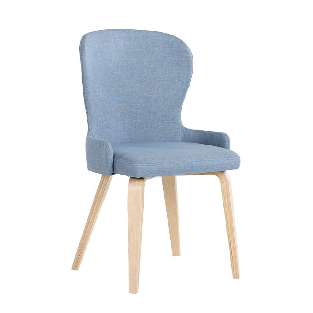 bluee Tiao ZHAN Solid Wood bar Stool Dining Chair Conference Table and Chairs Coffee Lounge Chair Home Bedroom Fabric Balcony Chair H97cm (color   Green)