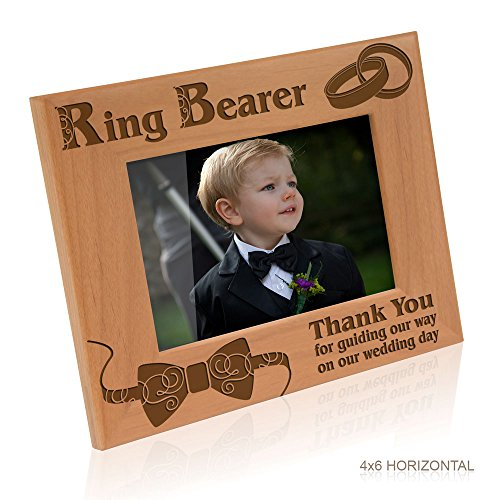 Kate Posh - Ring Bearer - Thank you for guiding our way on our wedding day - Picture Frame (4x6 Horizontal) (Ring Bearer Picture Frame compare prices)