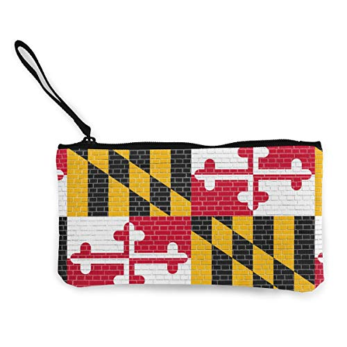 Coin Purse Wallet for Women,Maryland State Flag Pattern Pen Holder Stationery Organizer Change Purse Coin Pouch Mini Clutch Bag for Home and Office