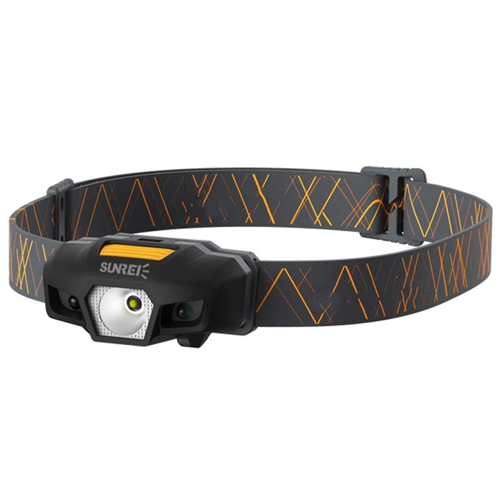 Fari del sensore leggero Abbagliamento Carica esterna Fari di guida per alpinismo LED Lampada impermeabile per abbagliamento