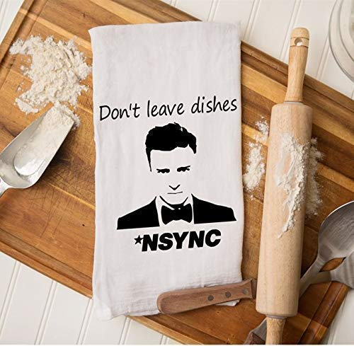Justin Timberlake Gifts, Funny Housewarming, NSYNC Gifts, Kitchen Dish Towel, Gift for Best Friend, Boy Band