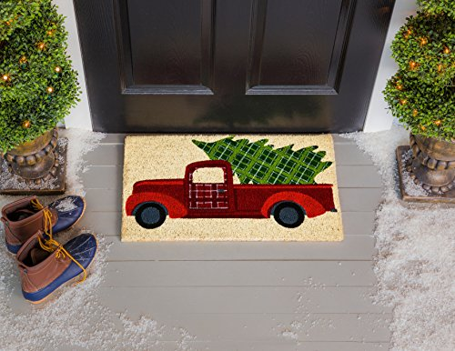 - Evergreen Flag 2RM476 Christmas Tree Truck Coir Mat, Multi-Colored