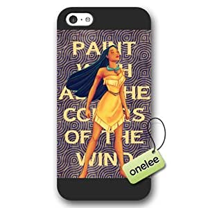 Disney Cartoon Movie Pocahontas Frosted Phone Case; Cover For Iphone 5/5s Cover - Black