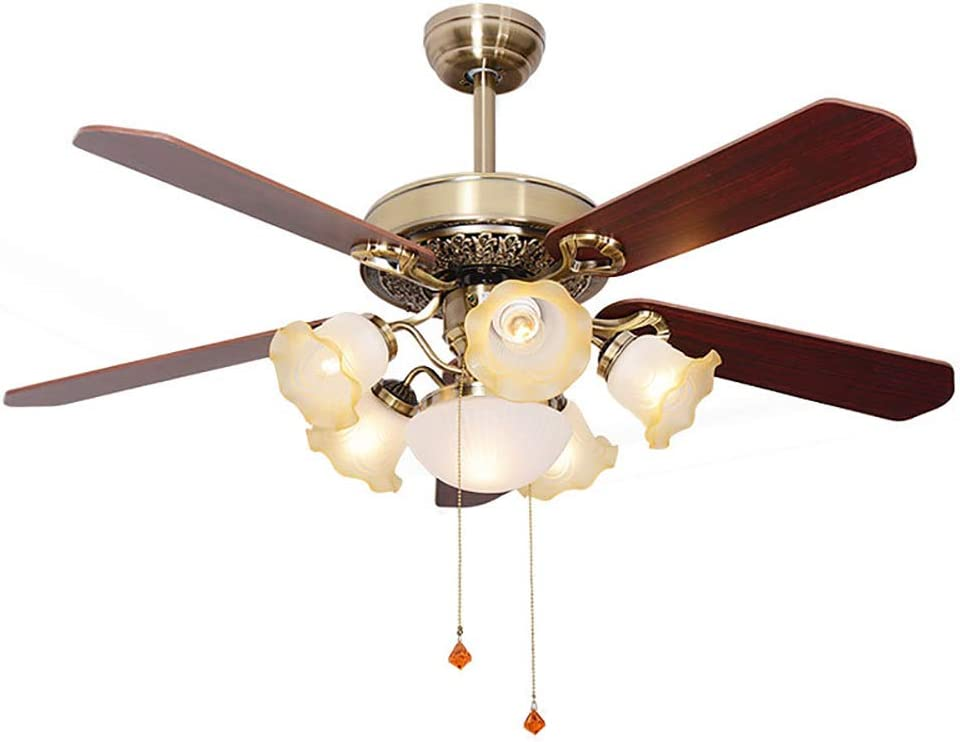 Luz de ventilador de techo LED de silencio de sala de estar, aspa ...
