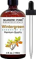 Majestic Pure Wintergreen Oil, Premium Quality, 4 fl Oz.