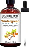 Majestic Pure Wintergreen Oil, Premium Quality, 4 fl Oz.