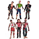 BOHS Zombie Dolls Action Figures Toys - Articulated Joints Model - 4 Inches - Pack of 6