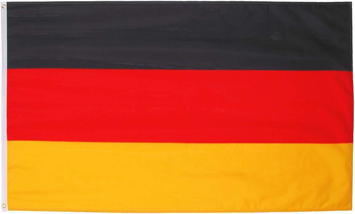 Fontee® [Alemania Bandera [90X150cm] [Serigrafía] [Color Vivo ...