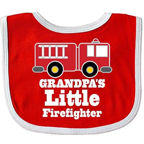 Little Firefighter Boys Fire Truck Baby Bib Red/White ()