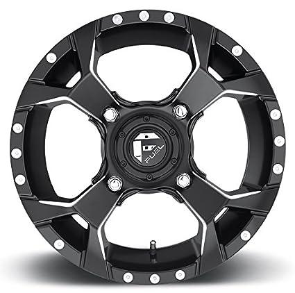Fuel Truck Wheels >> Amazon Com Fuel Assault 15x7 Atv Utv Wheel Matte Black 4