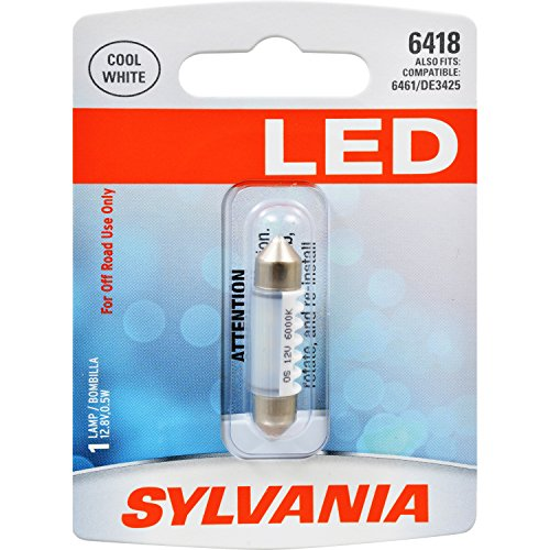 SYLVANIA 6418 36mm Festoon White LED Bulb, (Contains 1 Bulb)