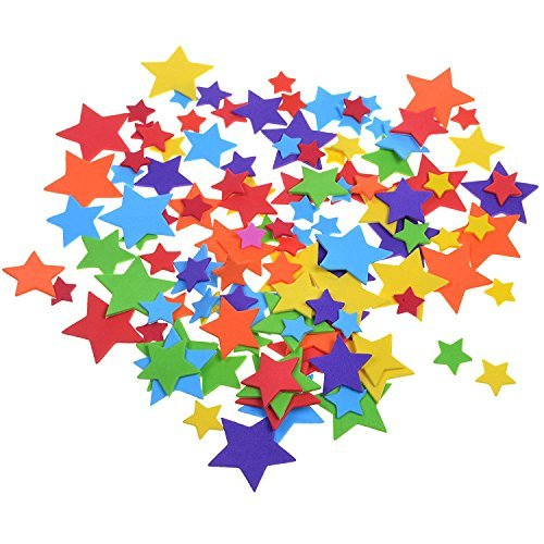 BCP 240 Pcs Self-Adhesive Foam Star Shapes Stickers for Craft Art Project -