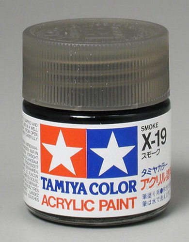 Tamiya 81019 Acrylic X19 Smoke 3/4 oz