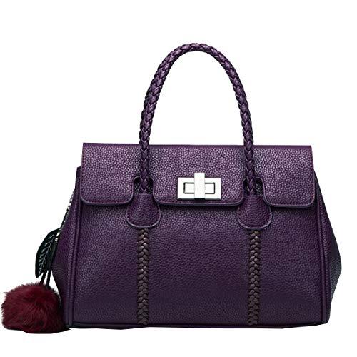Nouveaux Modèle HJLY Litchi épaule Sacs Dames Leather Sac Cuir à En Main Sac Main à 2018 Diagonale Violet wwWzSEqxAg