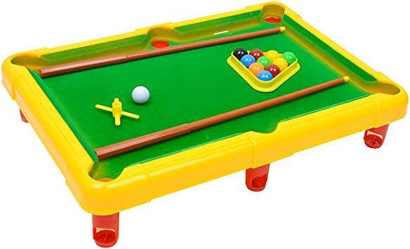 Juego de Mesa Juguete de Billar con Bolas en Miniatura Rompecabezas Juguete Divertido para Niños Familiares - Amarillo: Amazon.es: Juguetes y juegos