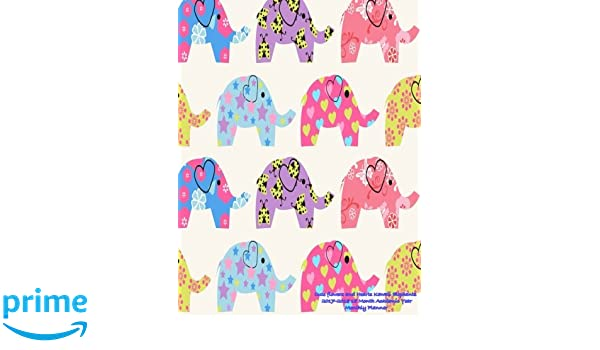Cute flowers and Hearts Kawaii Elephants 2017-2018 18 Month ...