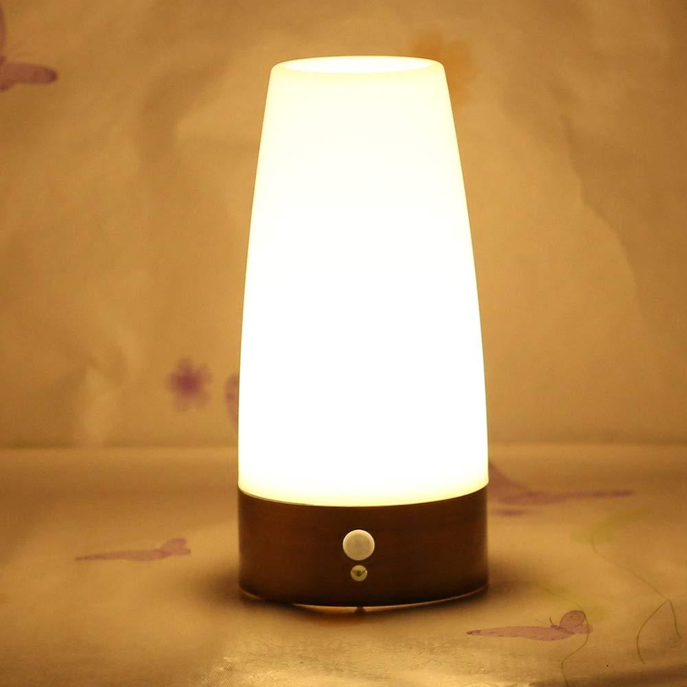 dragonaur luz Nocturna LED para Sala de Estar L/ámpara de Mesa autom/ática y Moderna con Pilas 7 Colores cambiantes