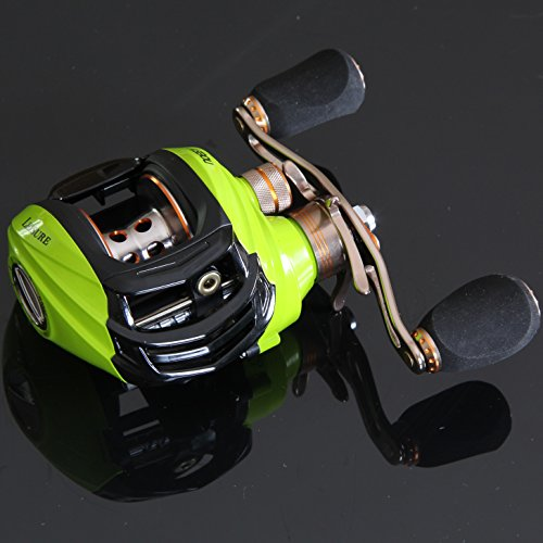 Noeby Low Profile Baitcasting Fishing Reel with 10+1 Ball Bearings 6.3:1 Gear Ratio Saltwater Baitcast Baitcaster
