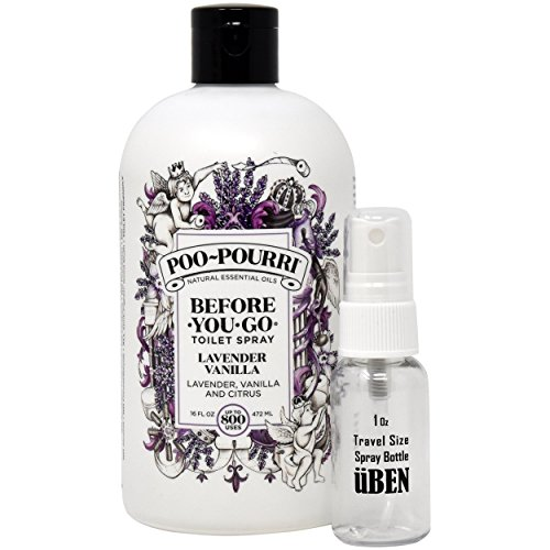 Poo-Pourri PP016-TST Before-You-Go Toilet Spray 16-Ounce Refill Bottle, Lavender Vanilla Scent