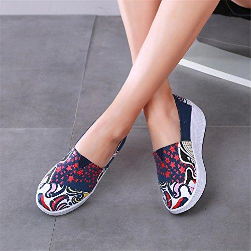 Chaussur Toile Femmes Conduite Ons Mocassins plats Chaussures Confort Shaking de Shake Shake Une Sneakers Chaussures Chaussures Chaussures Fitness Chaussures dcontract Automne Slip Printemps amp; Mocassins gqrFq5