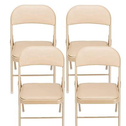 Pleasant Amazon Com Goujxcy Chair 4Pcs Elegant Foldable Iron Pvc Ibusinesslaw Wood Chair Design Ideas Ibusinesslaworg