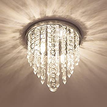 Lifeholder Mini Chandelier, Crystal Chandelier Lighting, 2 Lights, Flush  Mount Ceiling Light, H10.4u0027u0027 X W8.66u0027u0027 Modern Chandelier Lighting Fixture  For ...