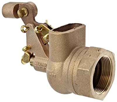 "Robert Manufacturing R610 Series Bob Red Brass Float Valve with Compound Operating Lever, 1-1/2"" NPT Female Inlet x Free Flow Outlet, 180 gpm at 85 psi Pressure by Control Devices"