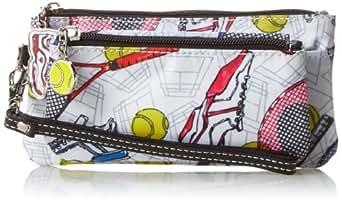 Sydney Love Tennis Double Zip Wristlet Clutch,Multi,One Size