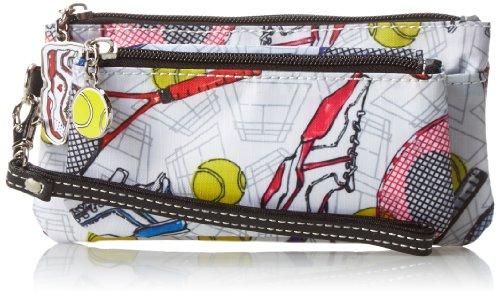 Sydney Love Tennis Double Zip Wristlet Clutch,Multi,One Size by Sydney Love (Image #1)