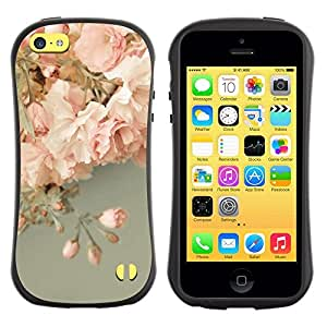 "Hypernova Slim Fit Dual Barniz Protector Caso Case Funda Para Apple iPhone 5C [Rosas Rosa Decoración Diseño""]"