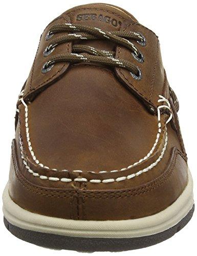Sebago Brice Three Eye, Náuticos Para Hombre - brun (WALNUT Leather)