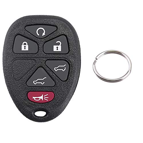 - Car Key Fob for Chevrolet Suburban Tahoe Traverse GMC Yukon XL 1500 2500 Cadillac Escalade ESV EXT OUC60270 OUC60221 Keyless Entry Remote Control Case Shell (6 Buttons, 1 Pack)