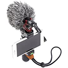 Smartphone Video Rig Portable iphone Stabilizer Vlogging Hand Grip With Universal Cardioid Microphone For Mobile Phone Videomaker Filmmaking Videographer iographer work with iPhone 7 6 6S Plus Sumsang