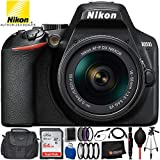 "Cheap Nikon D3500 DSLR Camera w/AF-P DX 18-55mm f/3.5-5.6G VR Lens – 12PC Accessory Bundle Includes 64GB SD Memory Card + 3PC Filter Kit (UV, CPL, FLD) + 50"" Full-Size Tripod + Small Carrying Case + More"