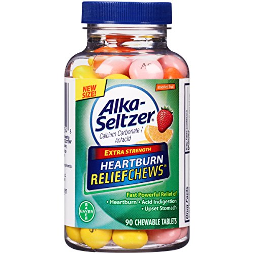- Alka-Seltzer Extra Strength Heartburn ReliefChews - relief of heartburn, acid indigestion and sour stomach - assorted lemon, orange strawberry flavors - 90 Count